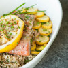 Grilled Salmon with Secret Sauce
