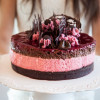 Raspberry & Chocolate Mousse Cake