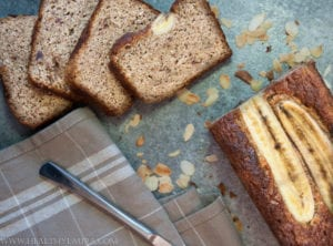 Banana Bread with Almond Meal (Gluten and Sugar Free)