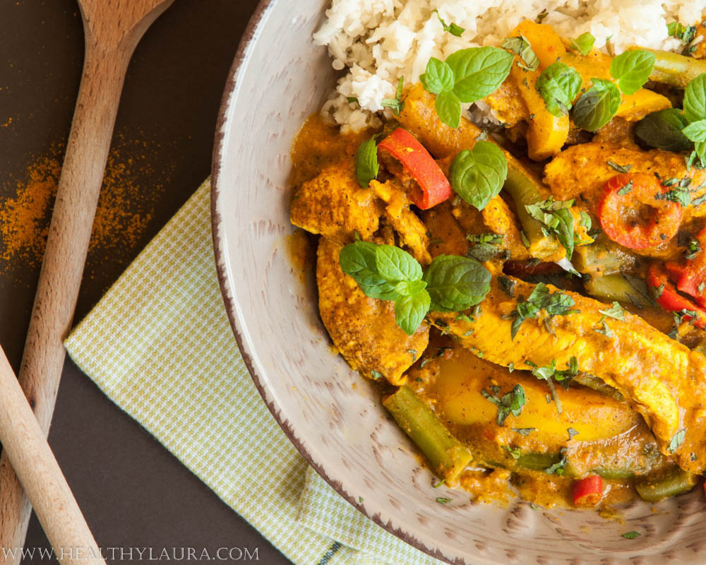 Chicken Curry with Cauliflower Couscous