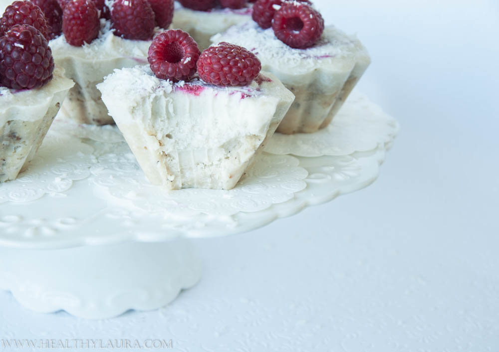 Raw Raspberry & Coconut Mini Cheesecakes