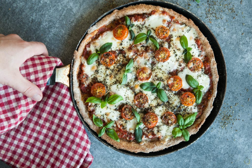 Almost Guilt-free Pizza Margherita