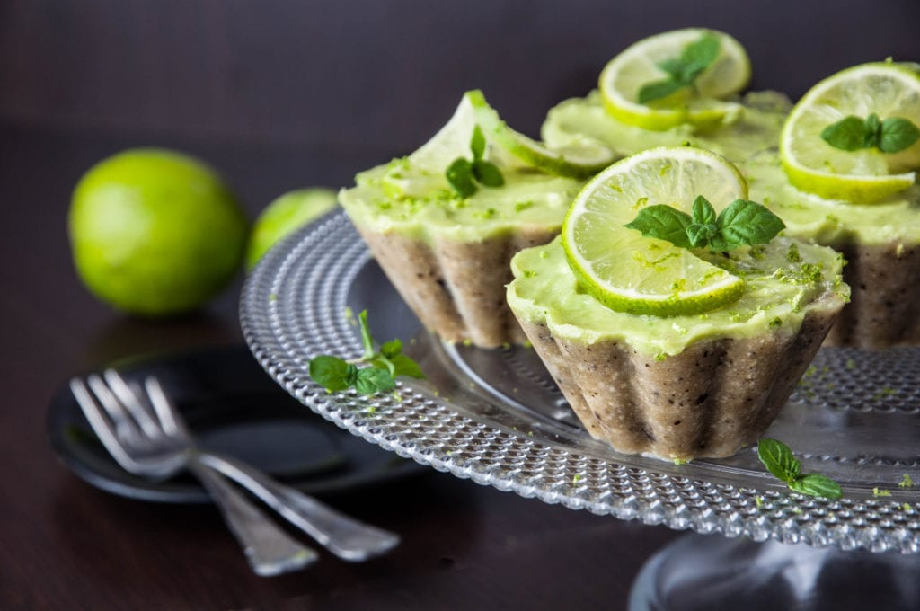 Raw Mini Lime Cheesecakes