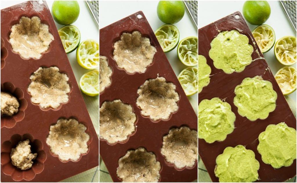 Making Raw Mini Lime Cheesecakes