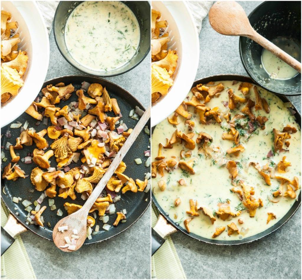mushroom-frittata