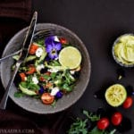 Creamy Feta Salad with Avocado Sauce