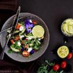Creamy Feta Salad with Avocado Sauce