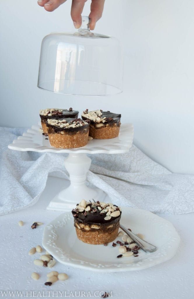 Raw Vegan Gluten and Sugar Free Snickers Cupcakes