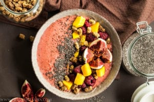 Raspberry and Mango Bowl with Mulberries