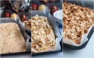Baking Paleo Apple Crumble Cake Slice