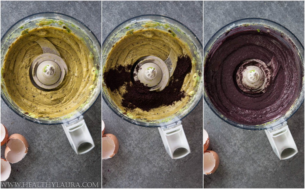 Making Gluten Free Blueberry Cupcakes Frosting (Trust me I didn´t use synthetic food coloring for the icing!)