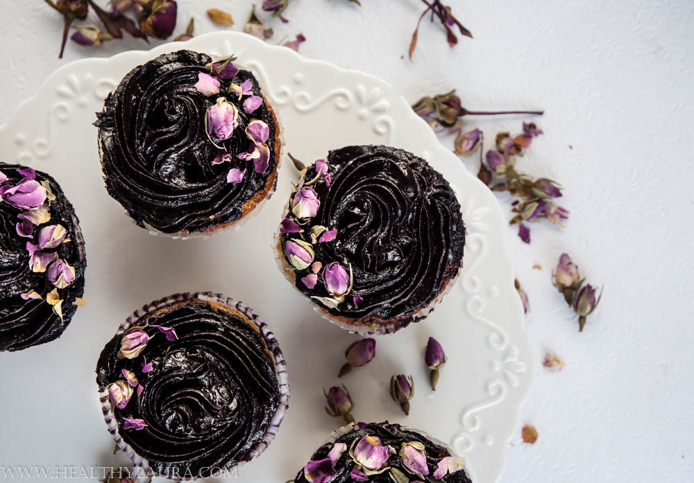 Gluten Free Blueberry Cupcakes (Almond Meal)