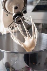 Whipped Egg Yolks for Sugar Free Vanilla Bean Gelato