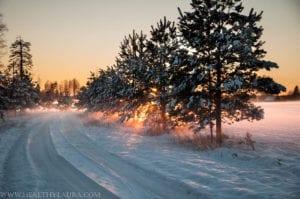 First snow in Estonia