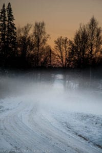 Fog and Snow in Estonia
