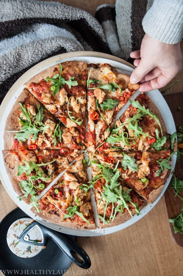 Wholegrain Hot Chiken Pizza