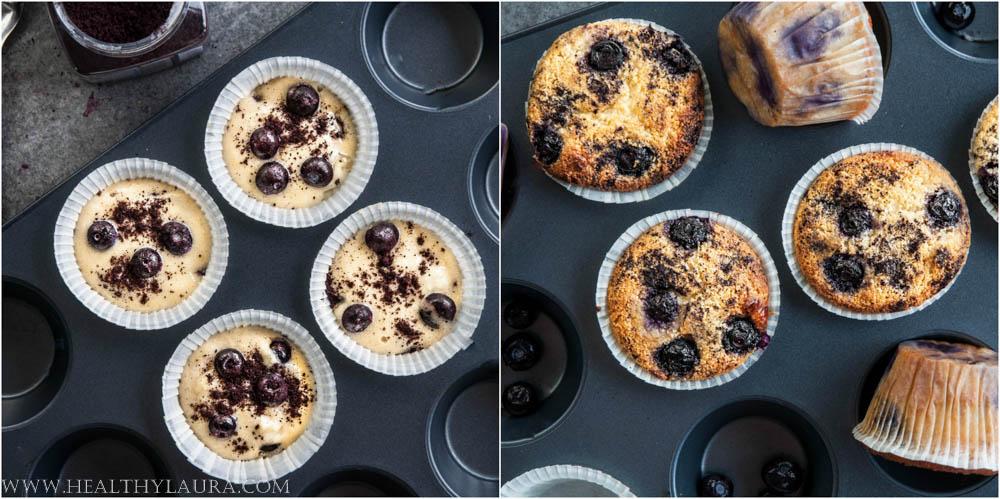 Making Gluten Free Blueberry Cupcakes