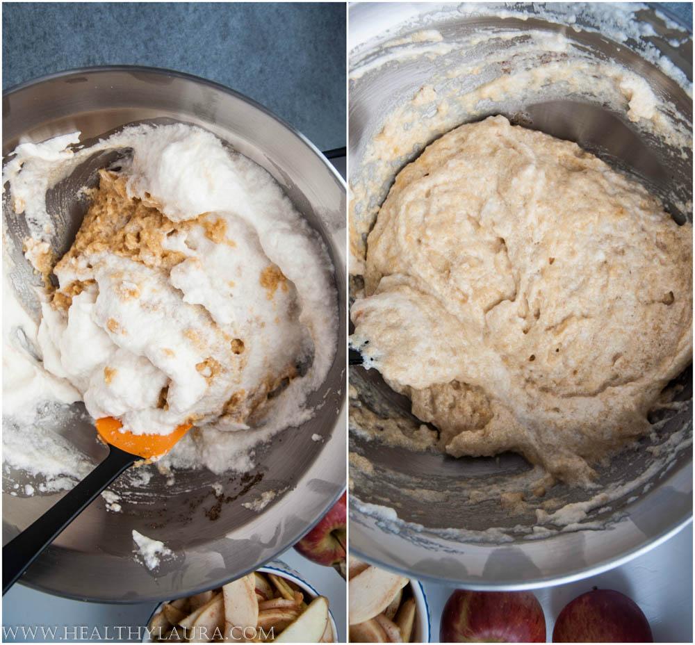 Making Paleo Apple Crumble Cake Slice