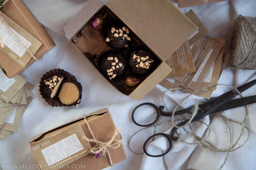 Almond Marzipan Truffles