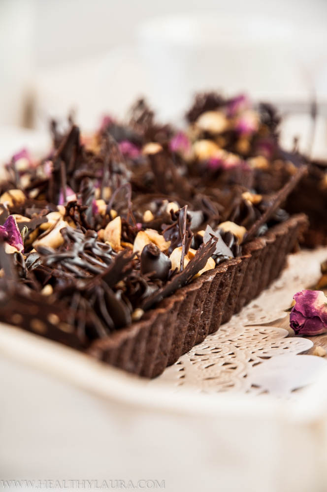 Vegan Paleo Chocolate Hazelnut Tart