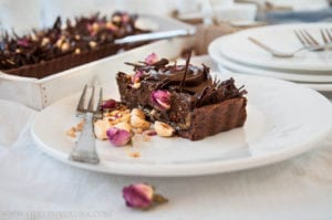 Vegan Paleo Chocolate Hazelnut Tart