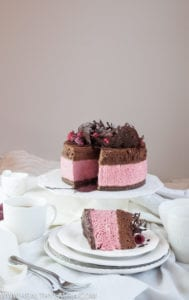 Raspberry & Chocolate Mousse Cake