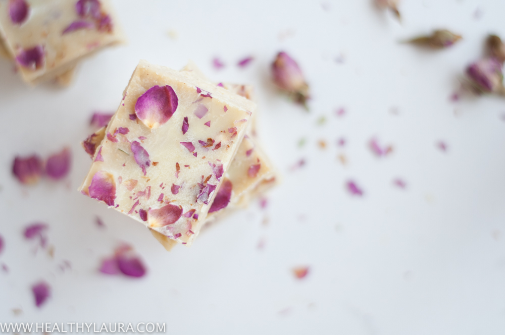White Chocolate with Roses
