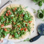 Chickpea Pizza with Pesto