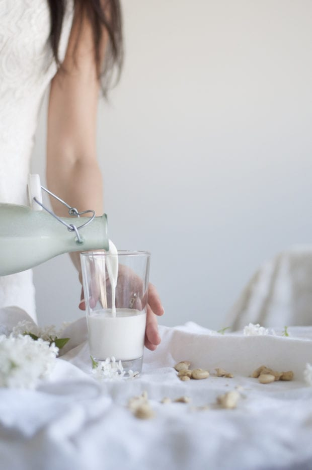 Making Raw Vegan Cashew Milk