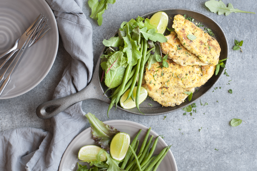 Paleo Chicken Snitzel with Almond Meal