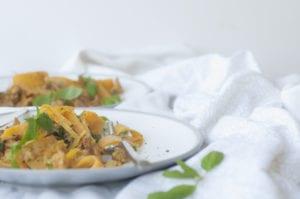 Creamy Paleo Butternut Pumpkin Mushroom Pasta