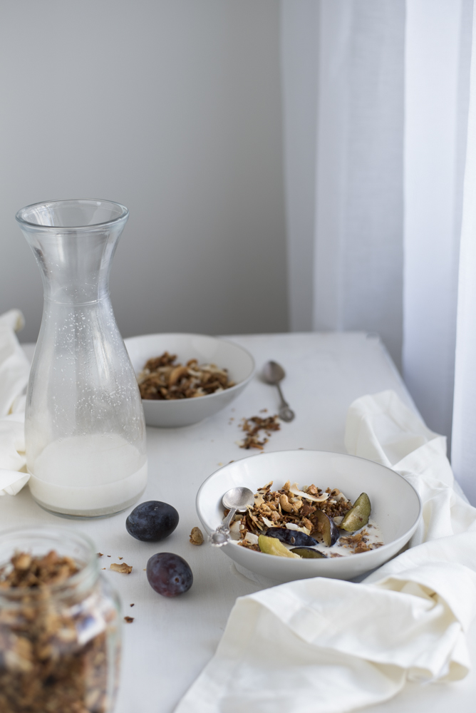 Grain free paleo granola photography