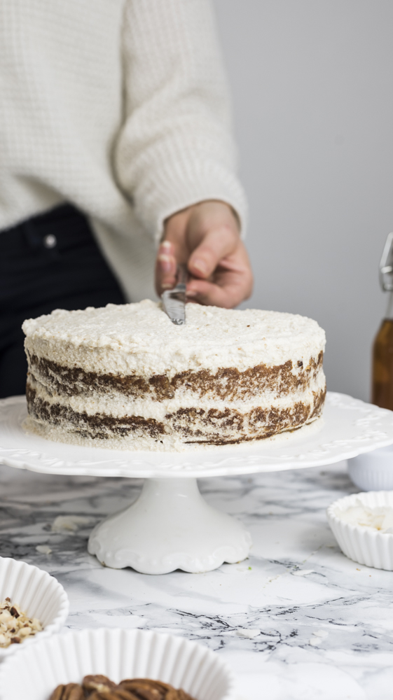 Paleo Creamy Coconut & Carrot Layer Cake