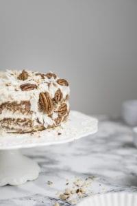 Paleo Cream Cheese Coconut & Carrot Layer Cake