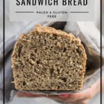 Paleo Almond Flour Bread by Healthy Laura Food Photography & Styling. paleo, paleo bread recipes, sandwich bread recipes, almond flour bread recipes, paleo brunch, yummy paleo, paleo healthy recipes, almond flour bread, almond meal, breackfast bread, paleo bread and paleo sandwich recipe. #paleorecipes #dairyfreerecipes