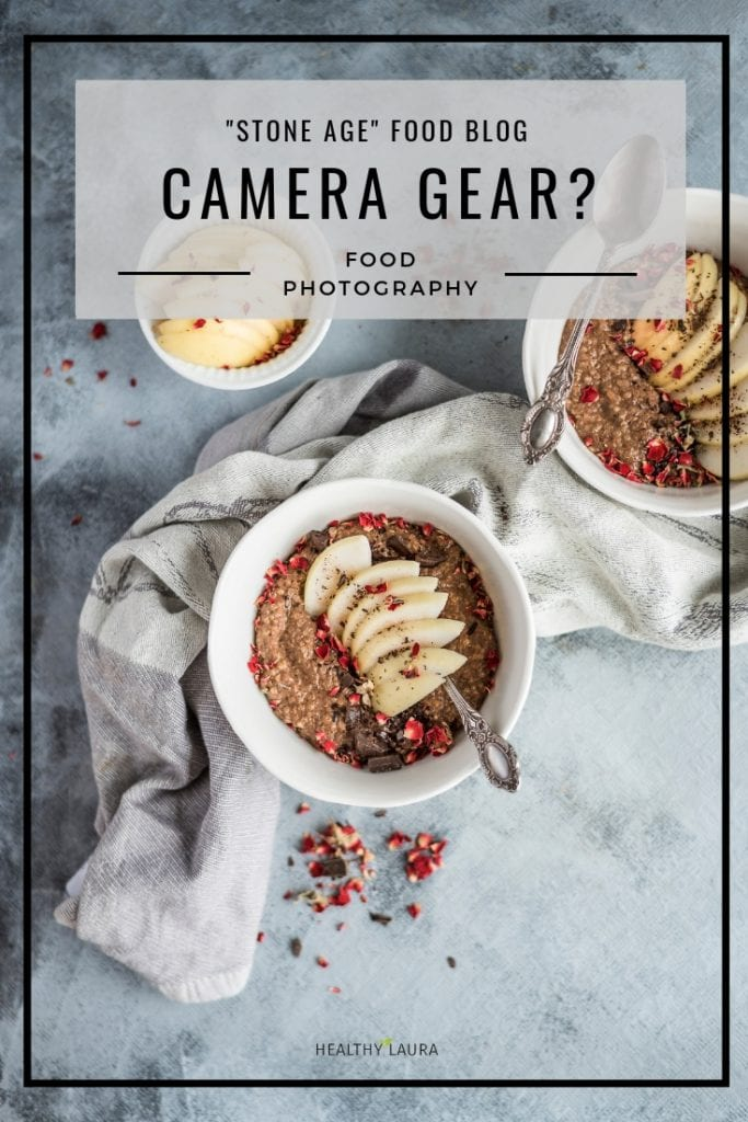Basic Food Blog Camera Gear by Healthy Laura Food Photography. #foodphotographycamera #foodbloggercamera #foodblogcamera #foodbloggingcamera