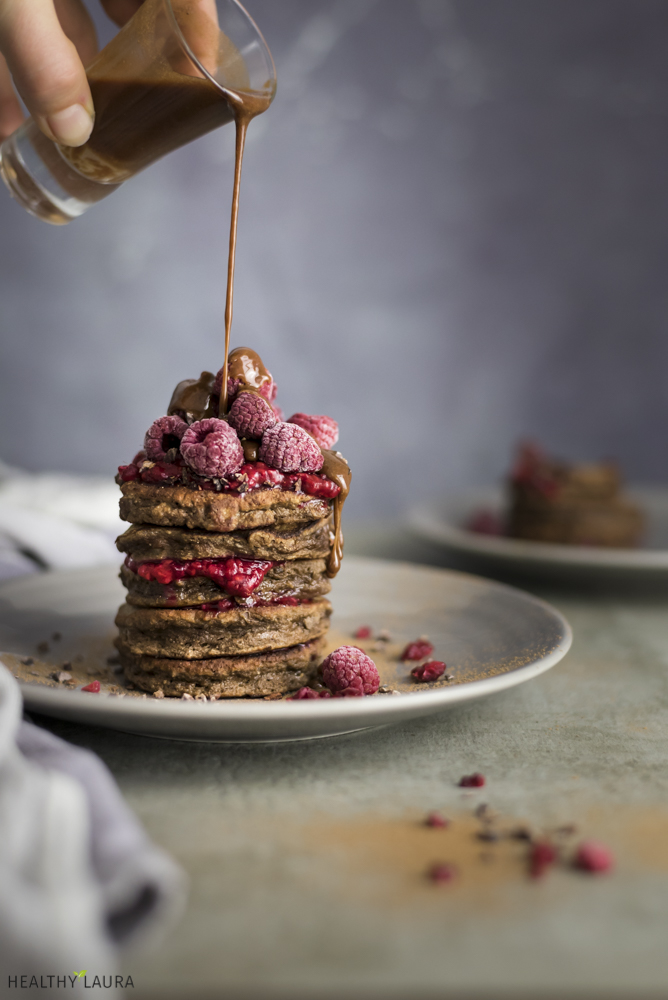 Paleo Chocolate Pancakes & Food Photography