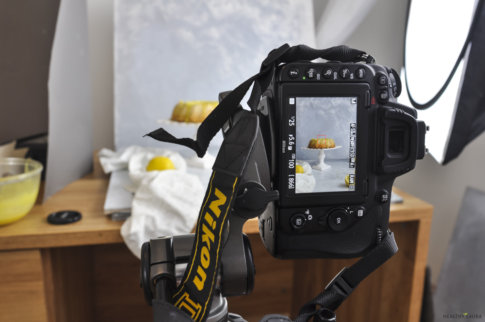 Lemon Bundt Cake & Food Photography: What is the best camera for food photography?