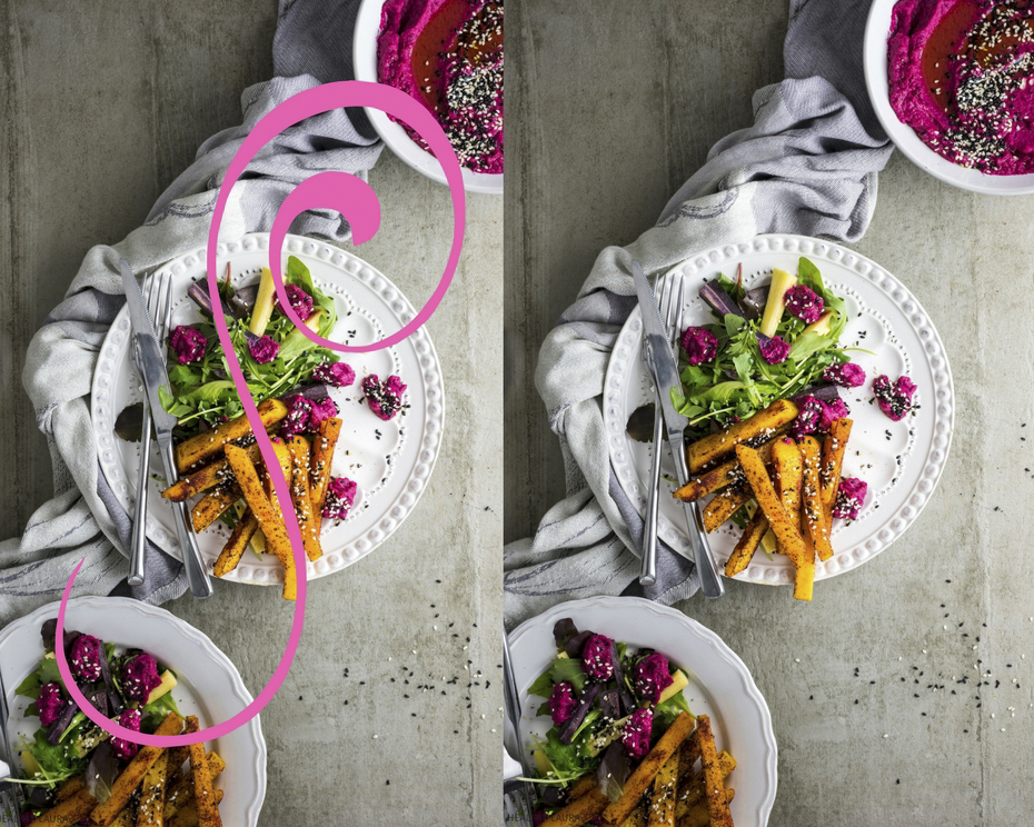 Food Styling 101: Three sides of styling and 20 tips: #3: s-line