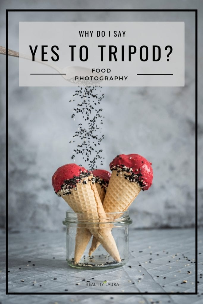Food photography tripod & Nice Cream by Healthy Laura Food Photography. My food blogging and food blog food photography tripod with an arm. My favorite Manfrotto tripod for food images. #foodphotography #foodblogger #foodblog #foodblogging #foodblogtips