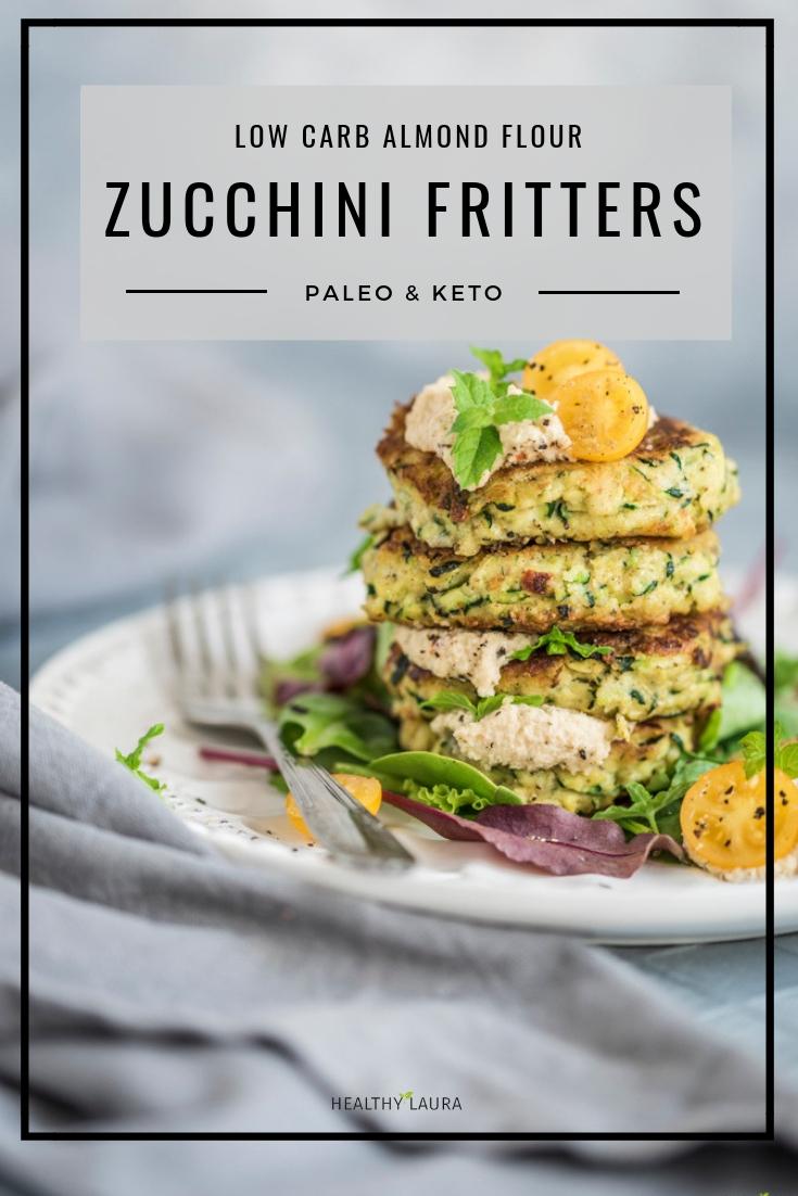 Keto Zucchini Fritters Gluten Free Paleo Patties