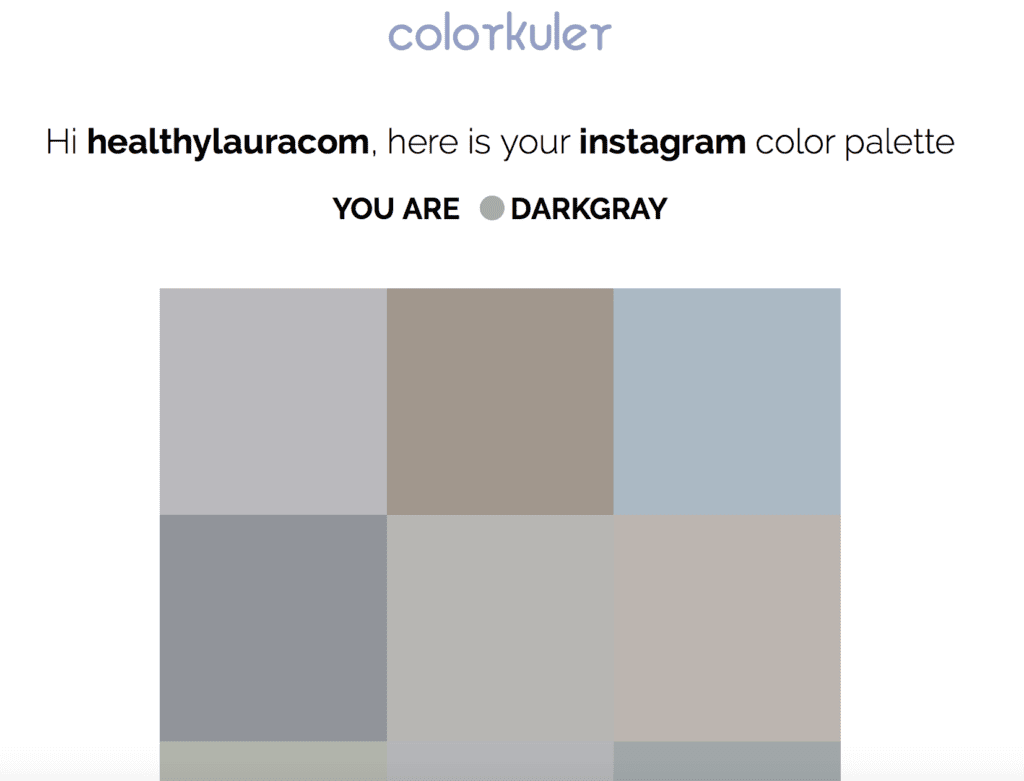 Analyze Instagram grid_ Color Theory_ @healthylauracom_ Food Photography & Styling