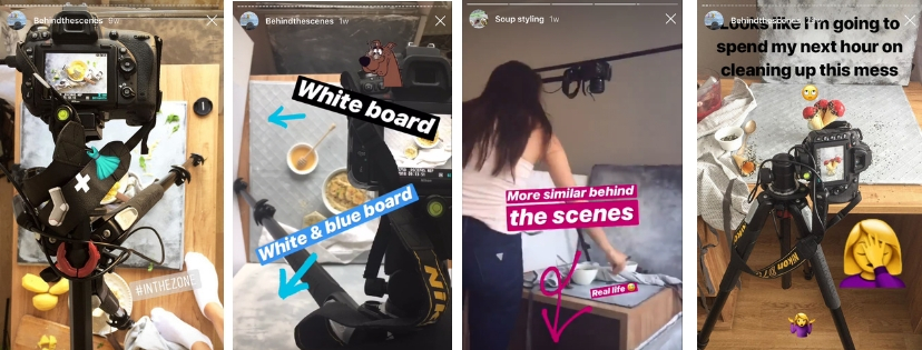 Behind the scenes_ Instagram Stories_ Food Photography