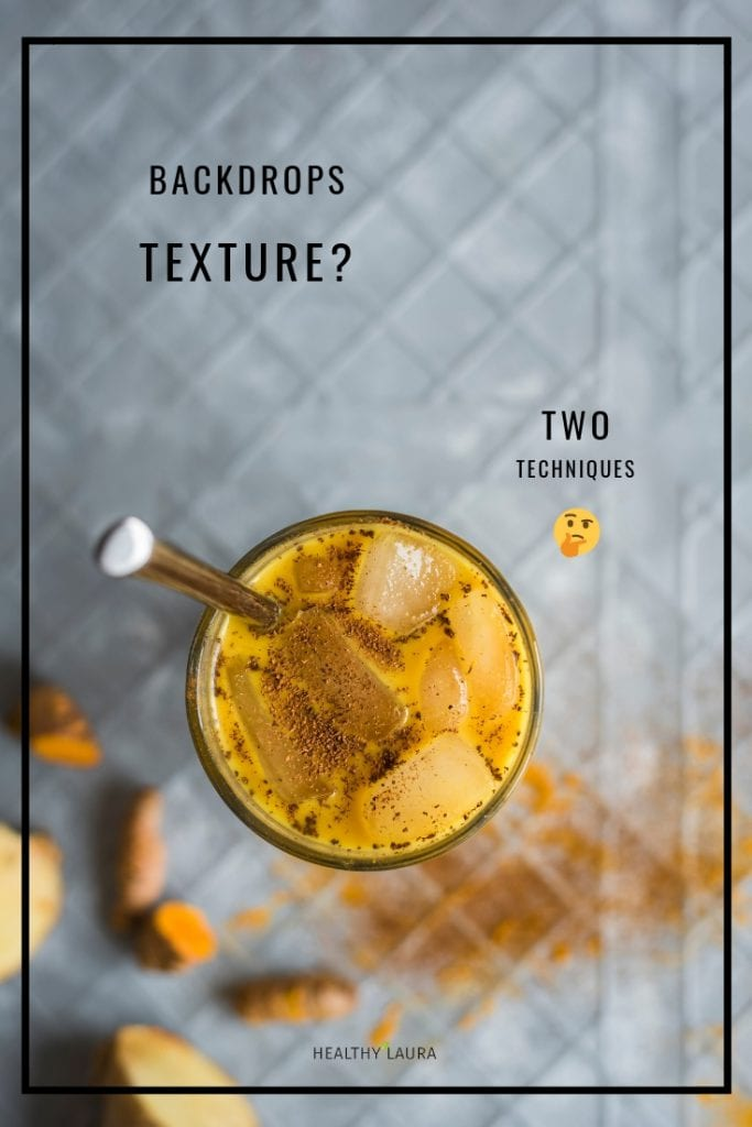 Food Composition Backdrop Texture & Turmeric Latte by Healthy Laura @healthylauracom. HealthyLaura @healthylauracom background materials