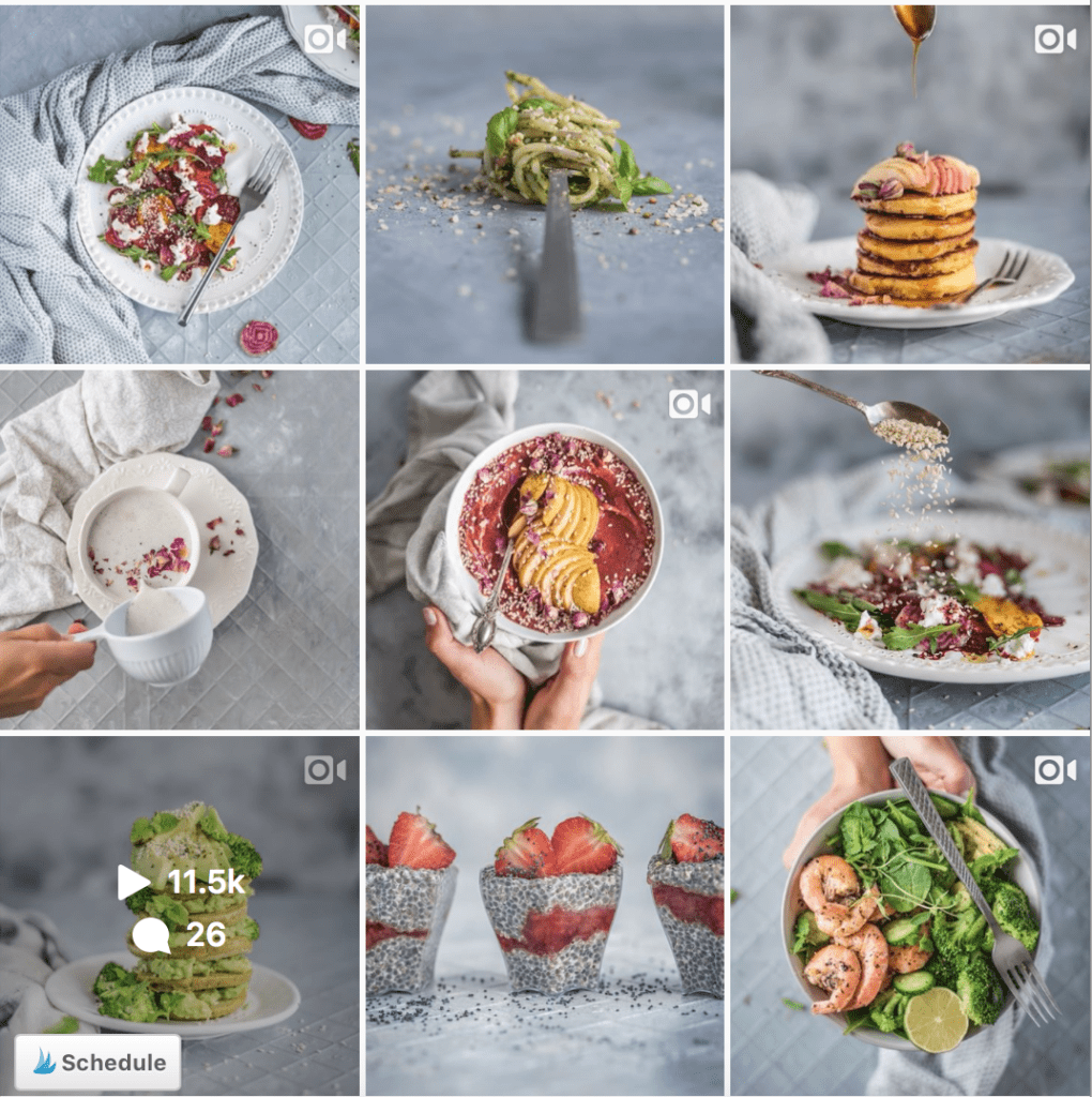 Instagram grid_ Color Theory_ @healthylauracom_ Food Photography & Styling