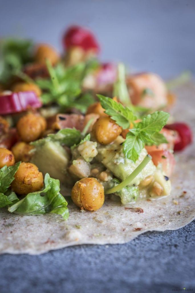 Buckwheat Flour Wrap - Healthy Laura - Food Photography