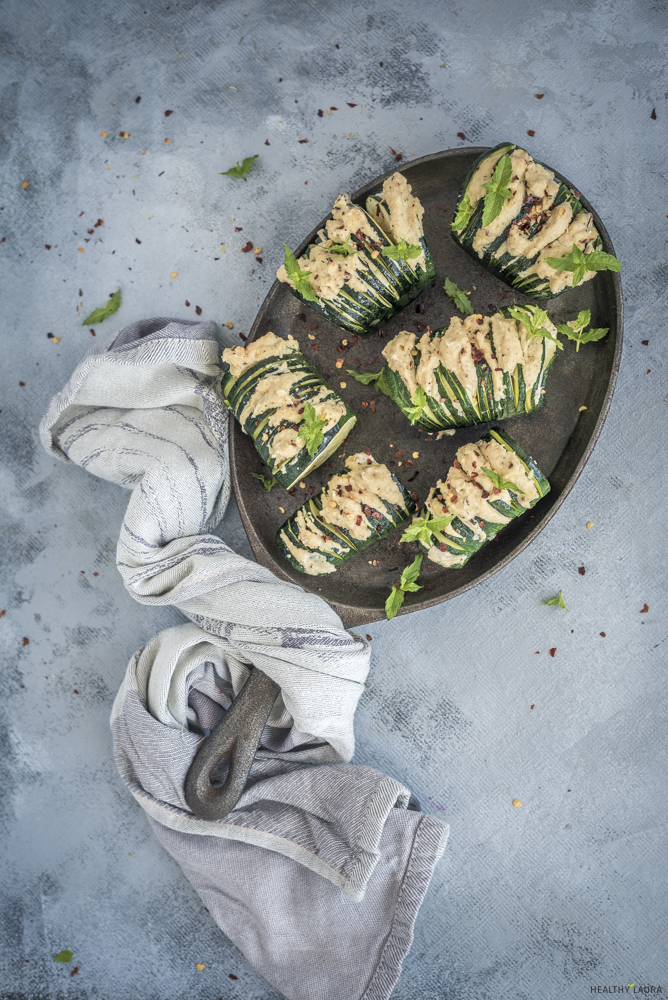 Quick Zucchini Hasselback_ Healthy Laura_ Food Photography