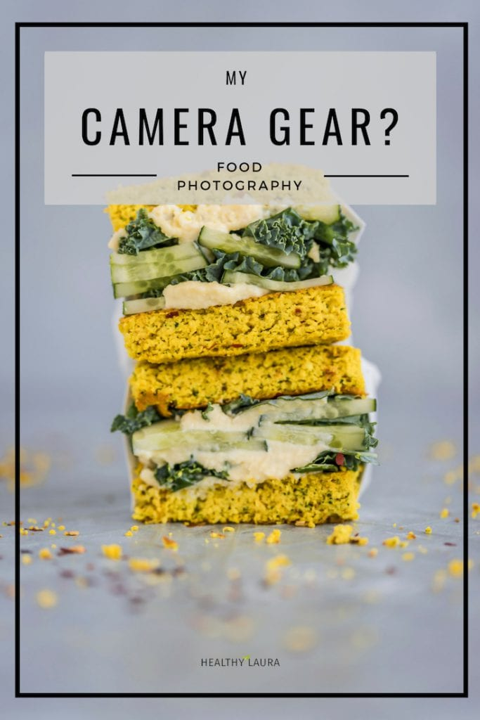 Camera gear by Healthy Laura Food Photography & Styling. Food Photography HACKS, angles, tripod, macro, 50 mm, 1.8, nifty fifty, phone, 45-degrees, 30-degrees, overhead, straight-on, rules, ignore, edge of the glass, food photography composition, photography cheats, favorite food blogging tips, inspiration, ideas, blogging inspiration, resources, best cheats, tricks, hacks for food bloggers and instagram photography. #foodphotography #foodstyling #foodcomposition #foodblogging #foodblogtips