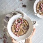 Christmas Chocolate Nice Cream Smoothie Bowl with Frozen Berries for Fitness with Frozen Banana & Zucchini. My vegan zucchini recipes, vegan healthy recipes, paleo zucchini, paleo recipes. #veganrecipes #dairyfreerecipes #paleorecipes