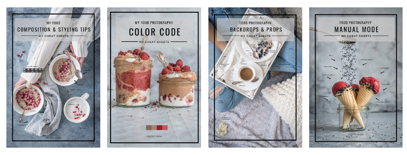 Learn Food Photography_ Cheatsheets Bundle _ Healthy Laura _ Food Photography & Styling